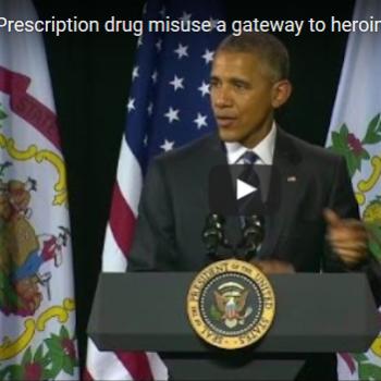 President Obama Addressing West Virginia's Heroin Epidemic