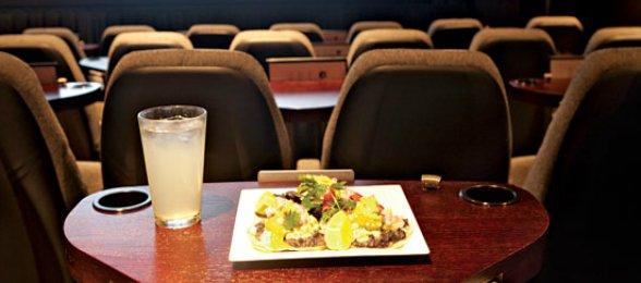 dinner movie table