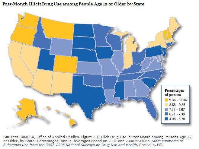 Illict Drug Map